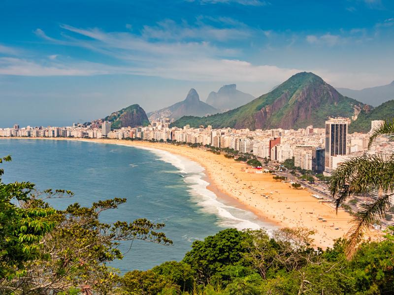 Rio de Janeiro Copacabana Beach, Brazil