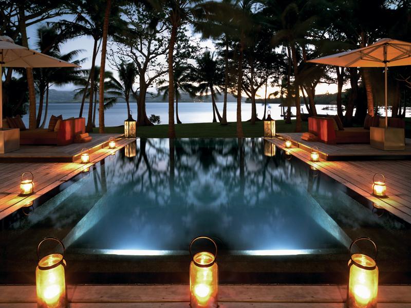 Resort pool at Dolphin Island villas