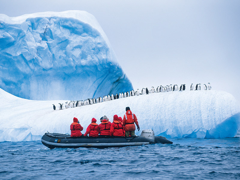 The Lindblad Expedition Zodiac in Antarctica