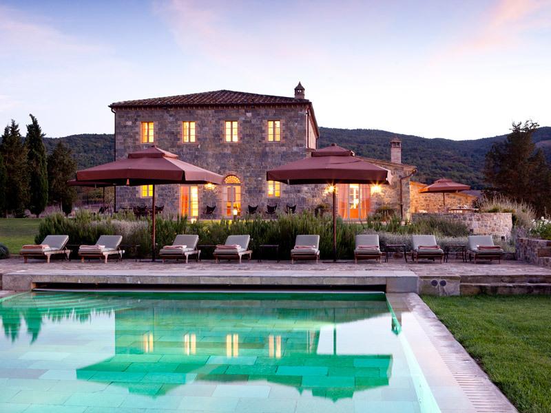 Rosewood Castiglion del Bosco Villas pool