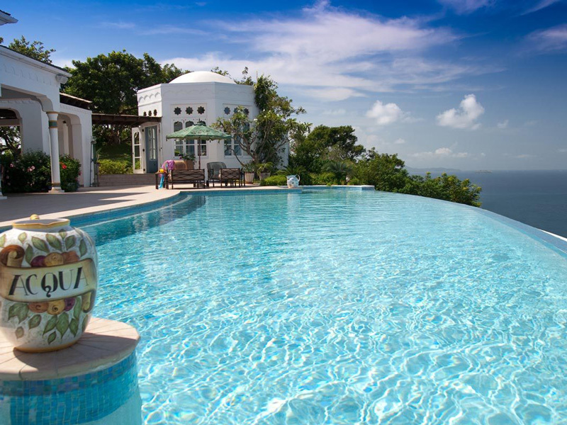 Exterior pool view of Toucan Hill Villa