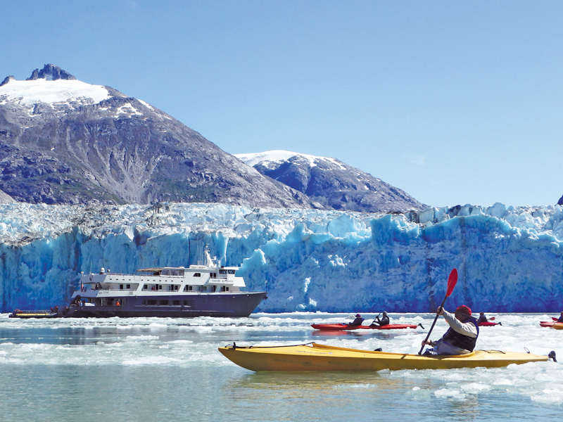 Alaskan glacier kayaking