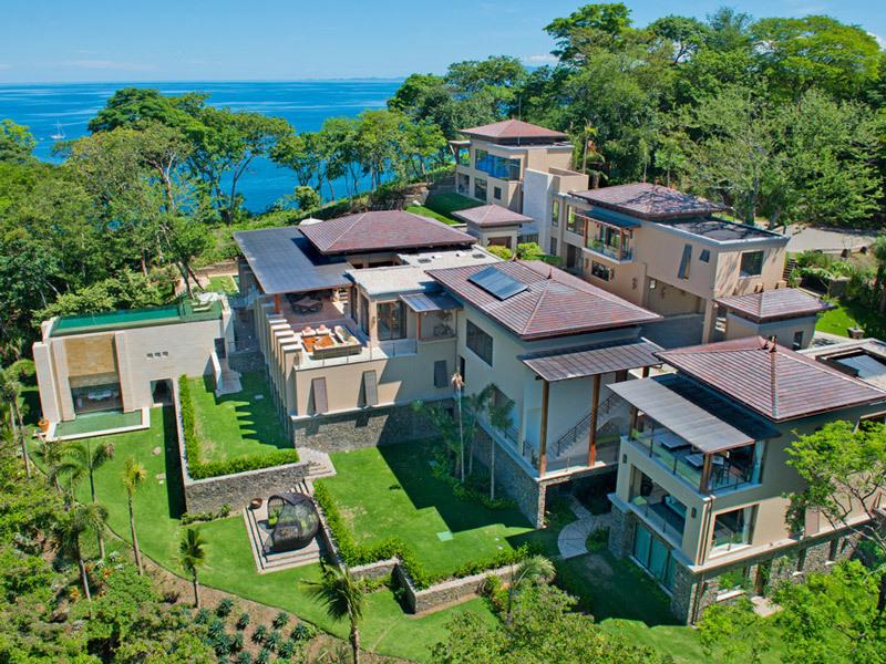 Aerial View of Villa Manzu in Costa Rica